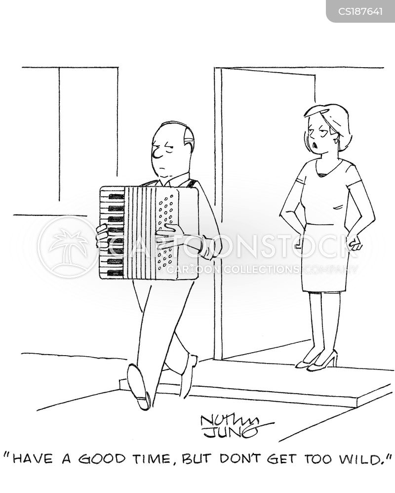 accordionist cartoon