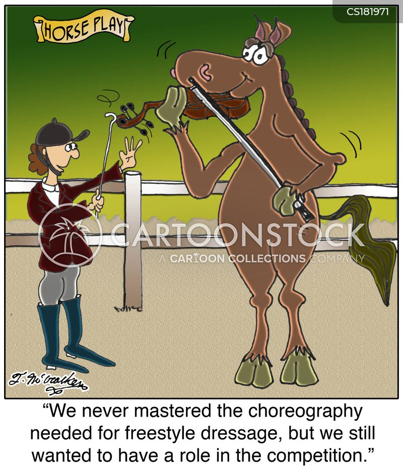 dressage cartoon