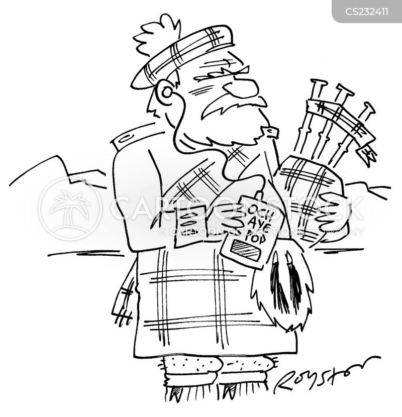 bagpipe cartoon