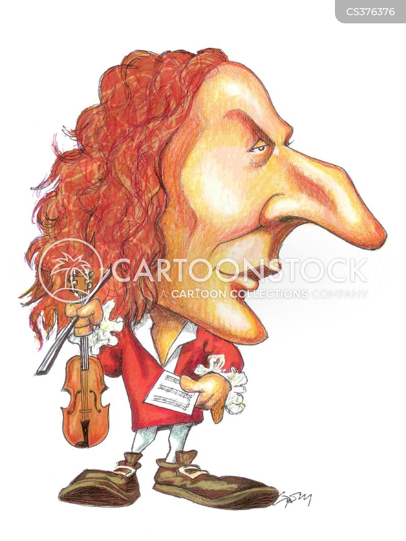baroque composers cartoon