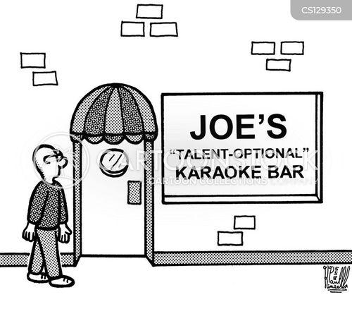 karaoke bar cartoon