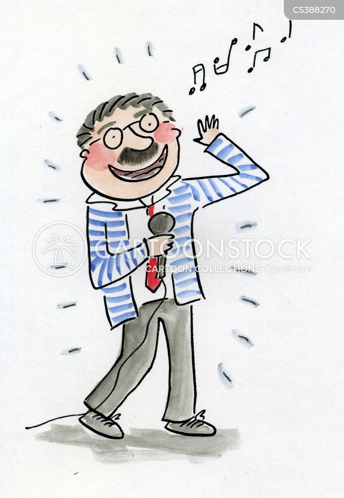 karaoke singing cartoon
