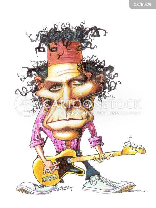 rock musicians cartoon