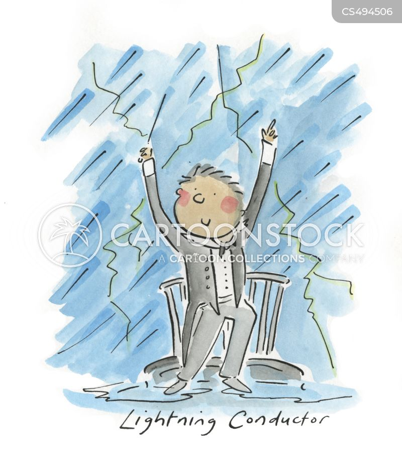lightning conductor cartoon