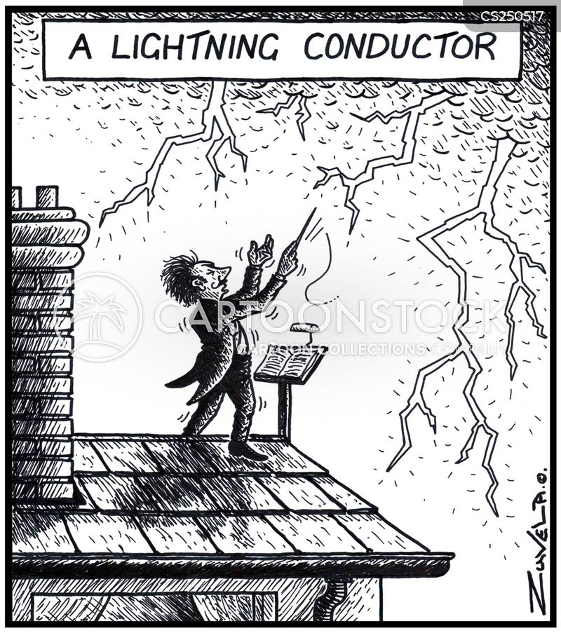 lightning rod cartoon
