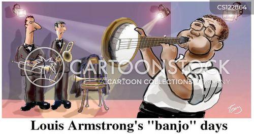 louis armstrong cartoon