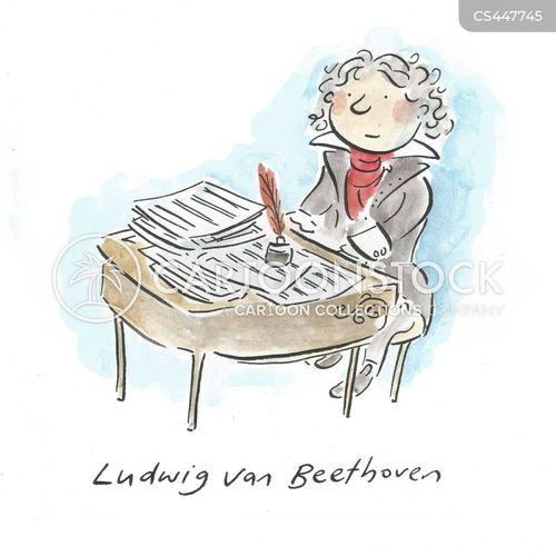 playing piano cartoon