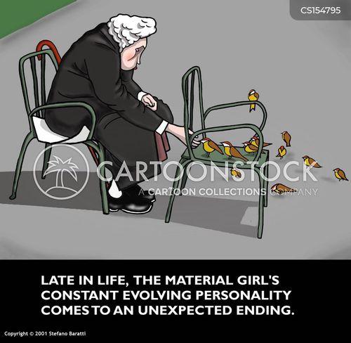 material girl cartoon