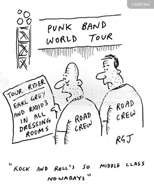punk music cartoon