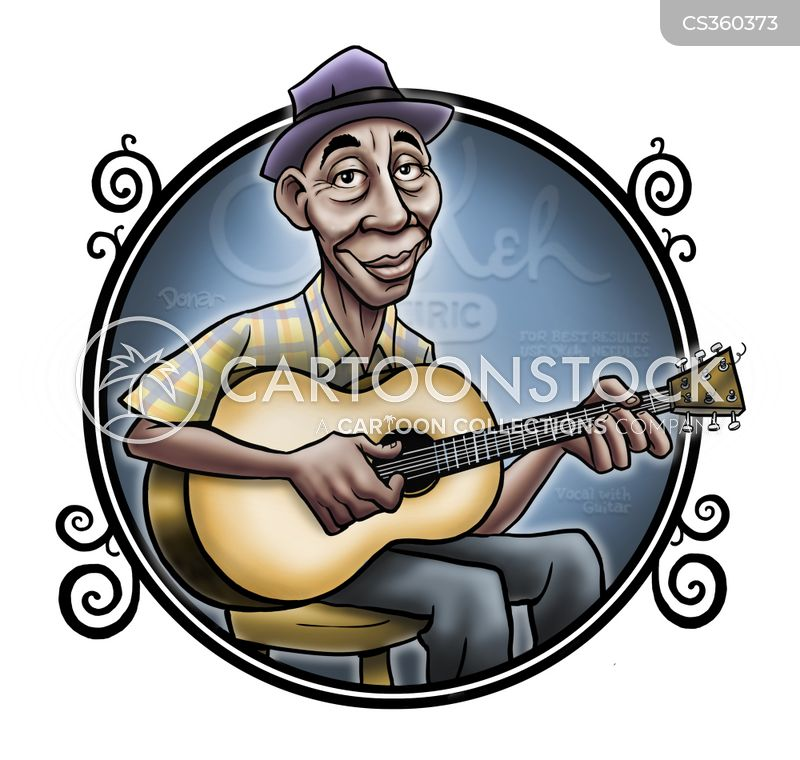 Blues Singers Cartoons and Comics - funny pictures from CartoonStock