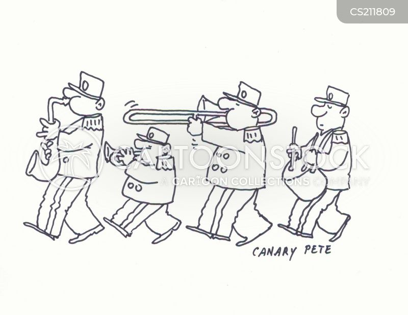 marching band cartoon