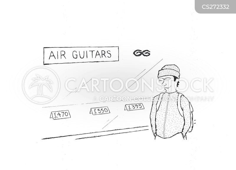 guitar store cartoon