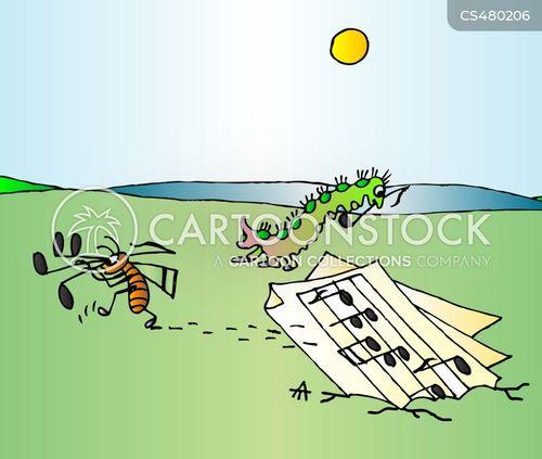 music sheet cartoon