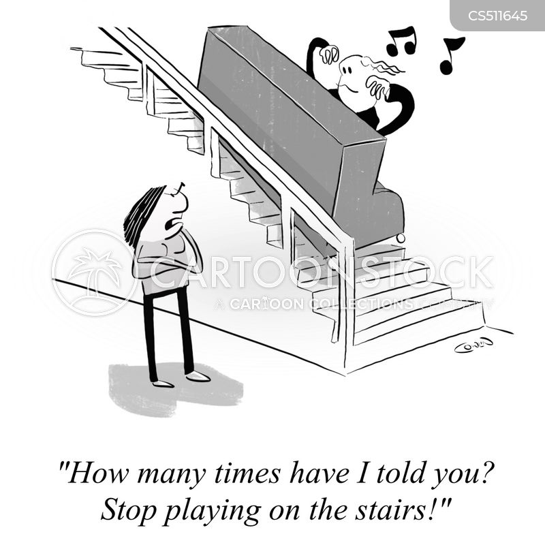 practicing piano cartoon