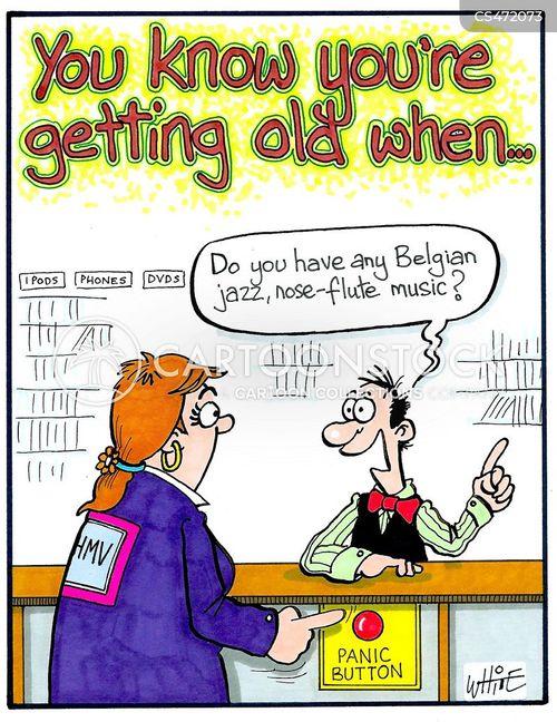 awkward customer cartoon