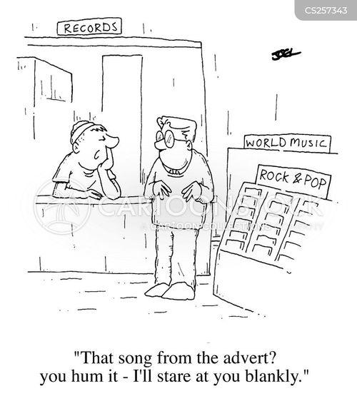 cd shop cartoon