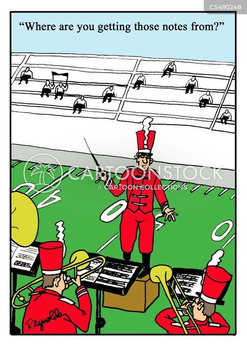 musical notations cartoon