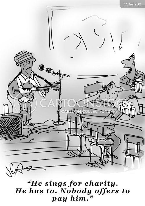 charity concert cartoon