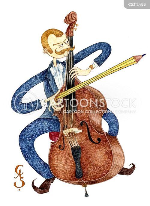 cello player cartoon