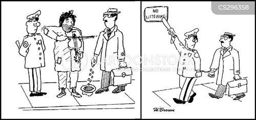 littered cartoon