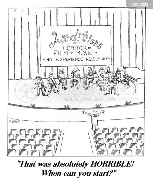 performing arts cartoon