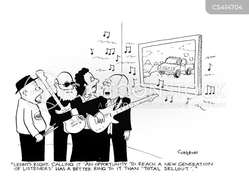 rock musics cartoon