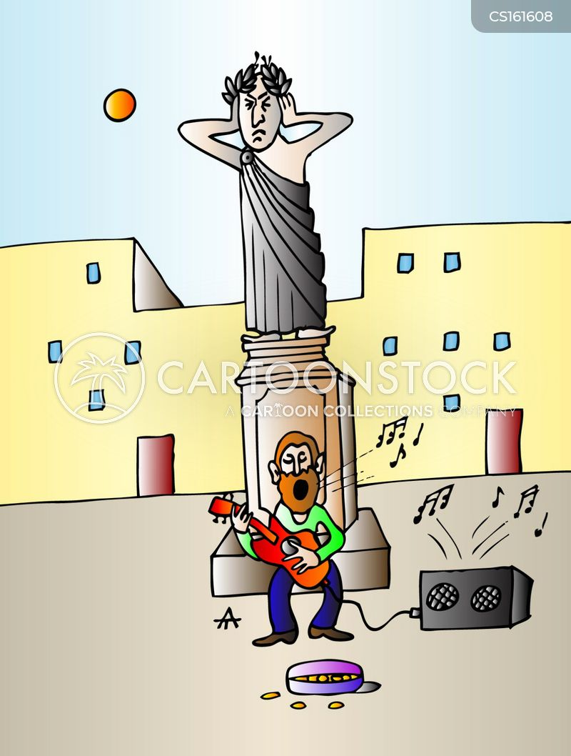 street performances cartoon