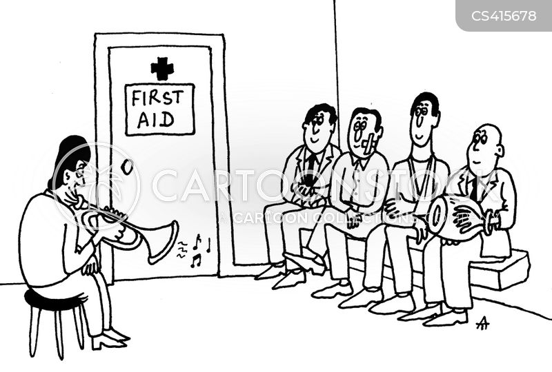 first aider cartoon