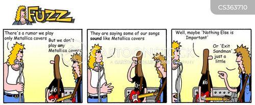band members cartoon