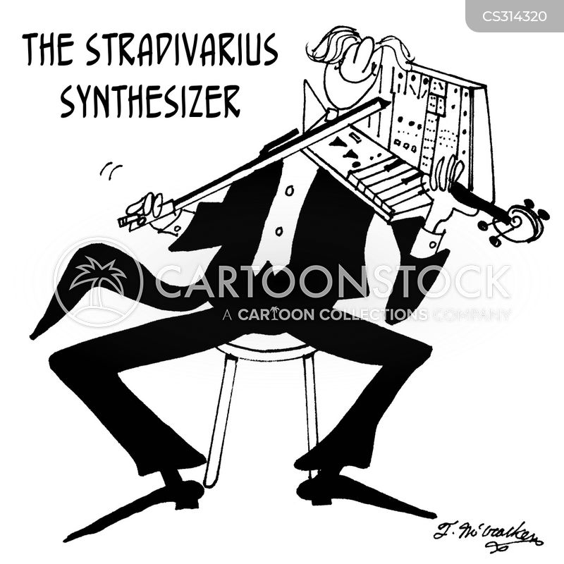 synthesizers cartoon