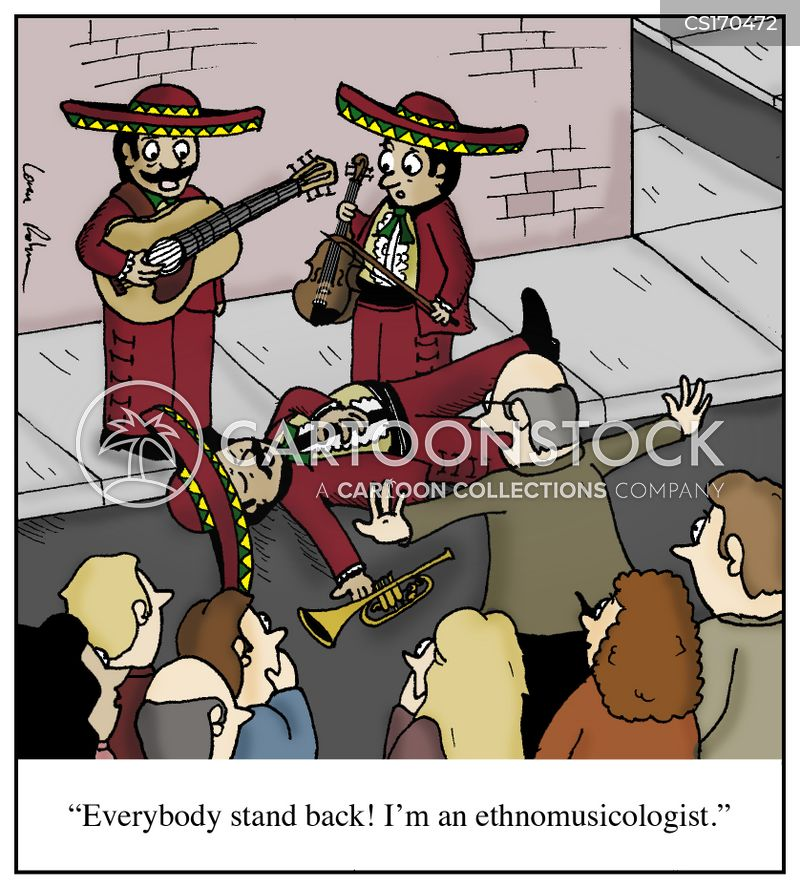 world music cartoon