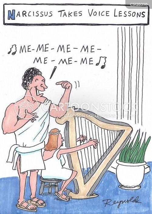 narcissus cartoon