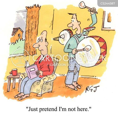 one-man band cartoon