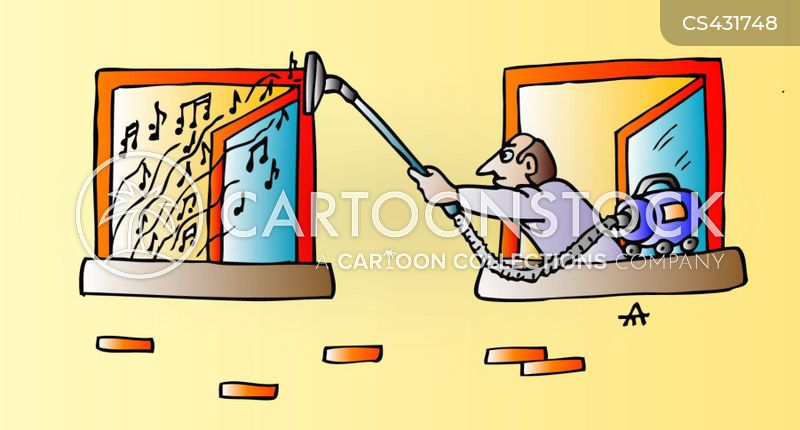 Rude neighbours cartoons and comics funny pictures from cartoonstock noisy neighbours altavistaventures Gallery