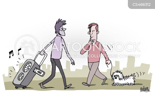 public space cartoon