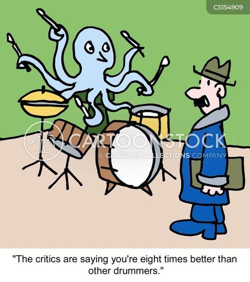 music critic cartoon