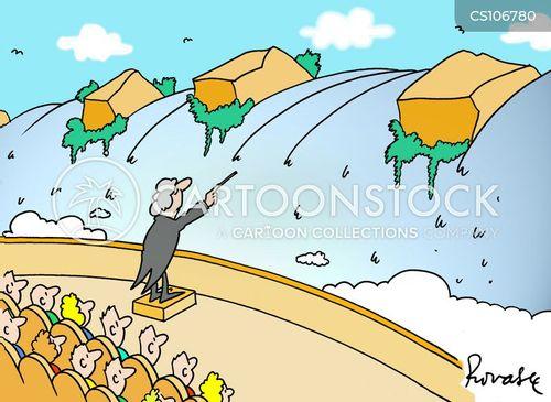 open air concert cartoon