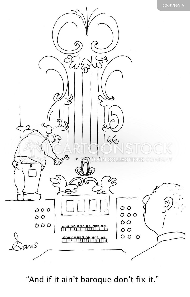 organist cartoon