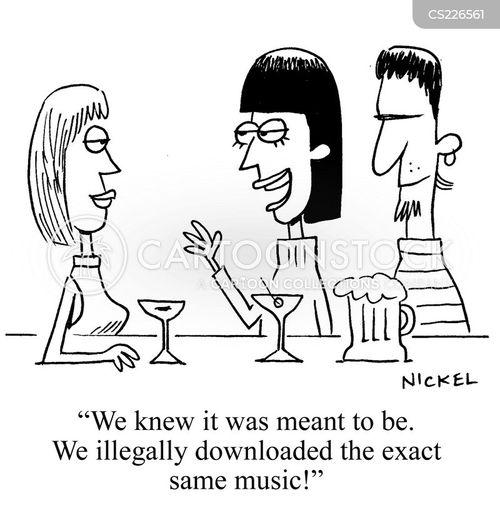 downloading music cartoon