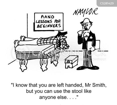 left handed cartoon