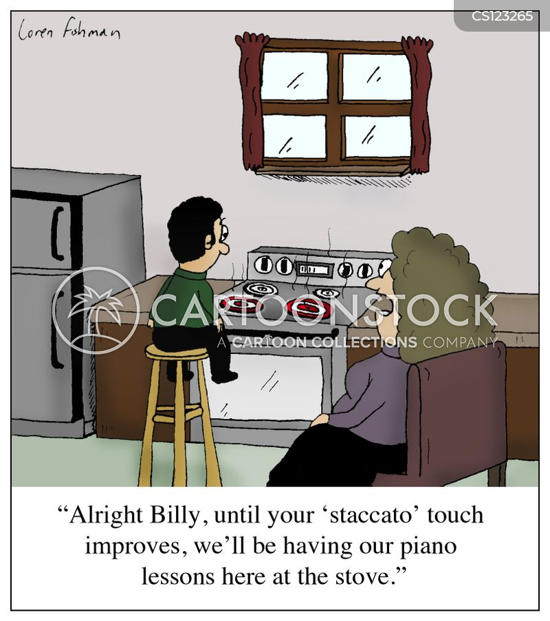 pianos cartoon