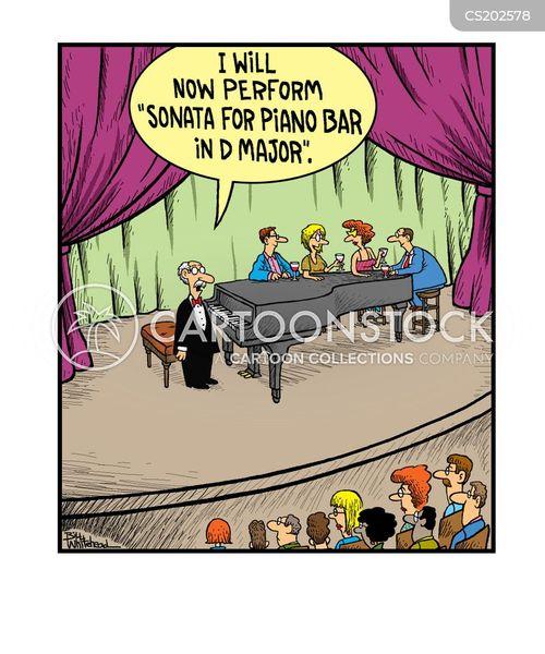 piano bar cartoon