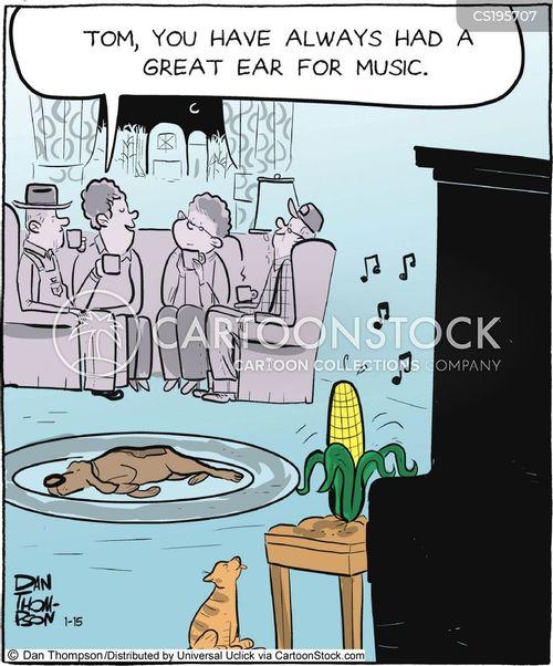 piano musicians cartoon