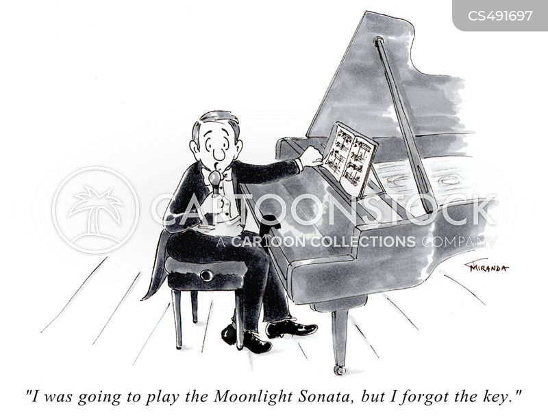 piano piece cartoon