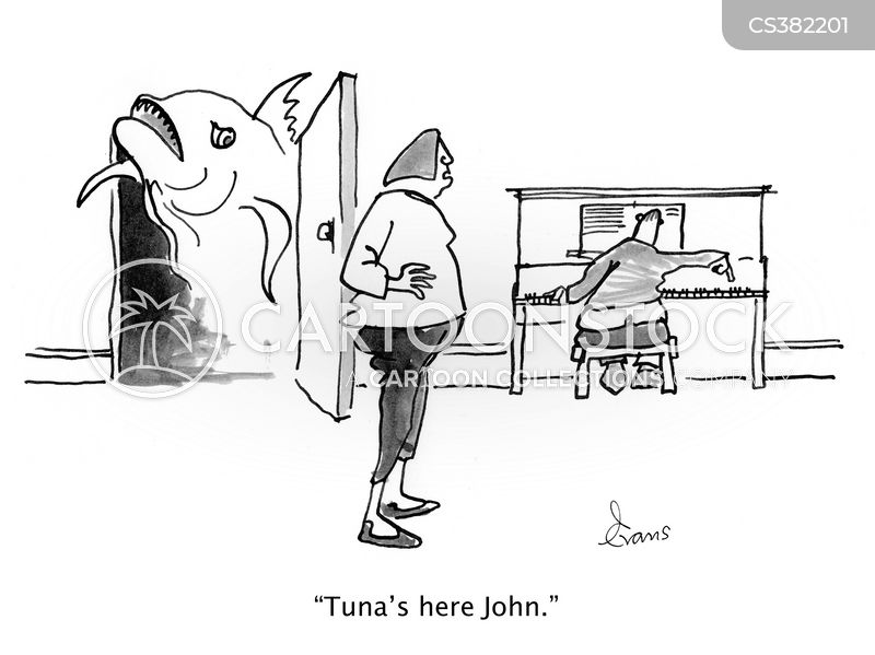Tuner cartoons and comics funny pictures from cartoonstock for Funny fishing songs
