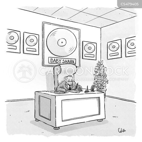 platinum records cartoon