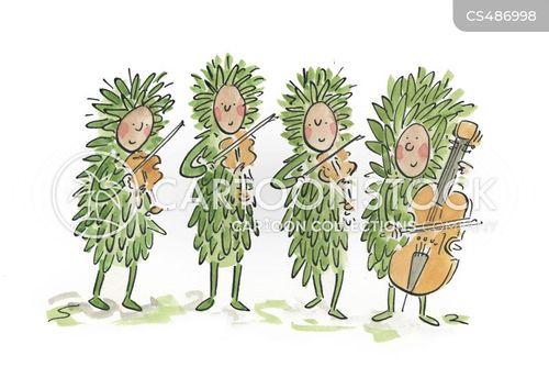string quartets cartoon