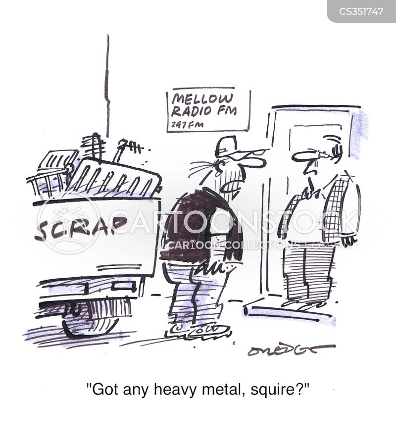 scrap metal cartoon