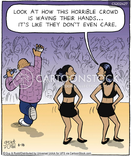 backing singers cartoon