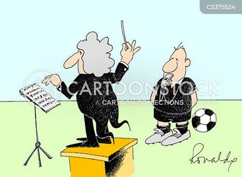 football referee cartoon